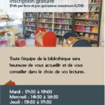 Marque-page pour la bibliothèque du Chenoix