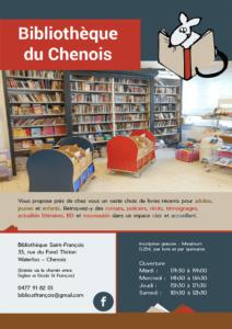 Affiche pour la bibliothèque du Chenois